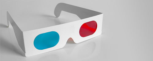 Red and Cyan 3d Glasses