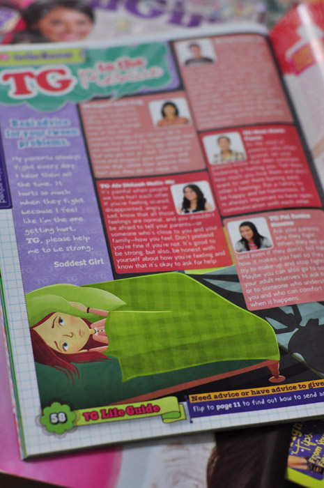 TG to the Rescue, October 2011 issue