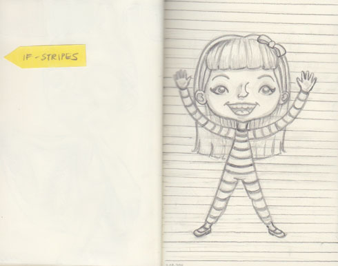Sketch, Illustration Friday #18 – Stripes