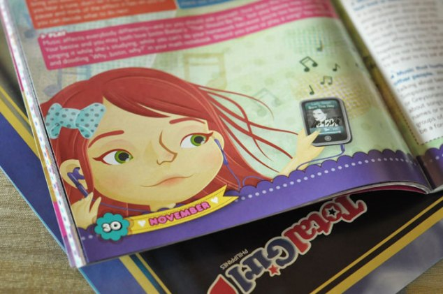 Spot illustration for Total Girl Philippines, November 2011 music issue