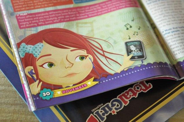 Spot illustration for Total Girl Philippines, November 2011 music issue