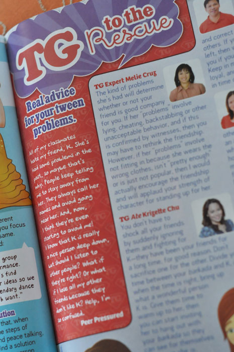 TG to the Rescue, November 2011 issue