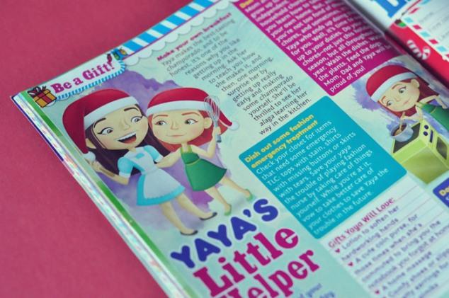 Yaya's Little Helper, article illustration, Total Girl December 2011
