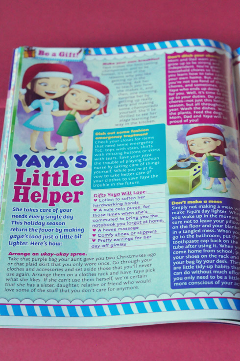Yaya's Little Helper, article illustration, Total Girl December 2011