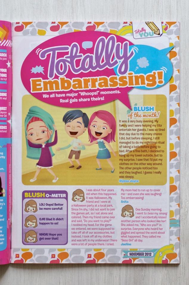 Totally Embarrassing, November 2013