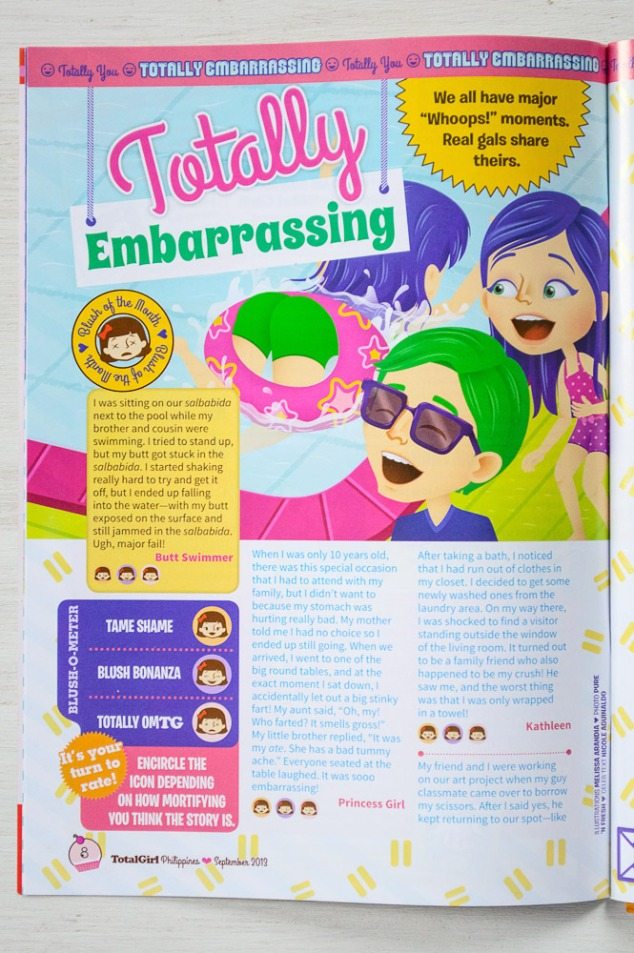"""Totally Embarrassing"" illustration, new layout"