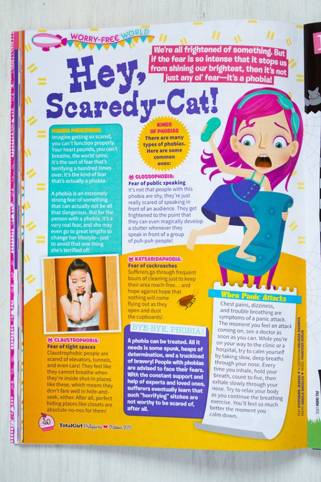 """Hey Scaredy-Cat!"" article illustration"