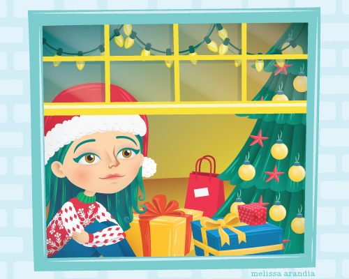 "vector work, ""Turn that Christmas Frown Upside Down"""