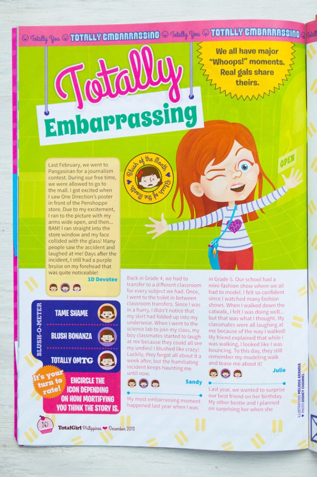 """Totally Embarrassing"", Total Girl Philippines–December 2013 issue"