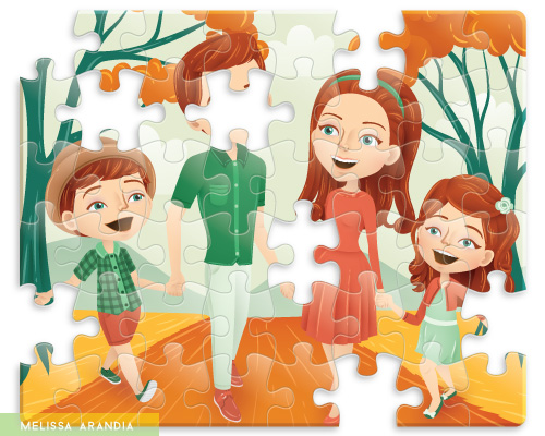"""vector work—""""The Missing Piece"""""""