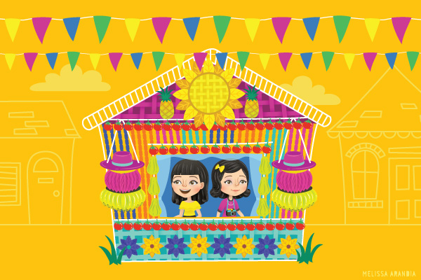 "vector work (original background colors)–""It's a Celebration"""