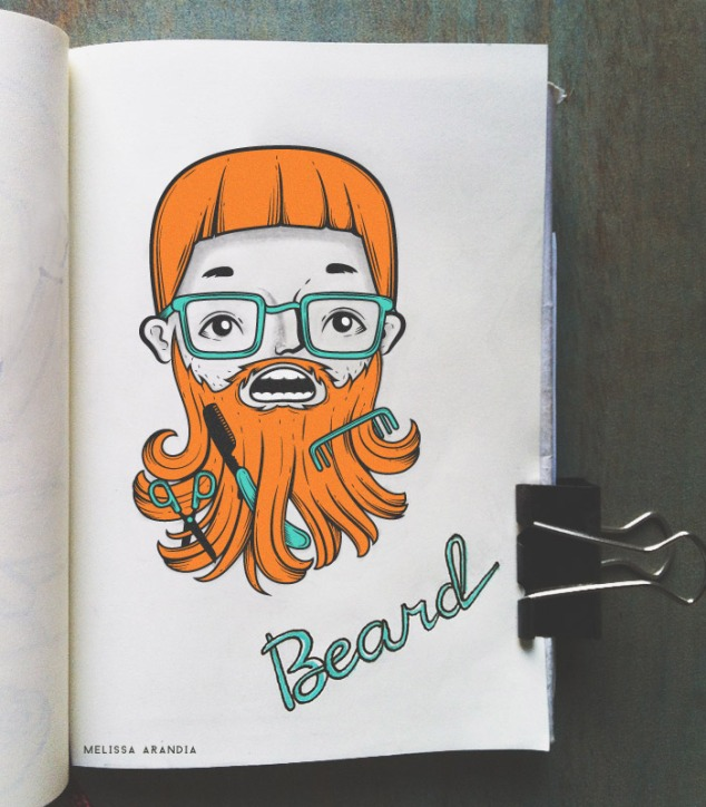"vector work—Illustration Friday ""Beard """