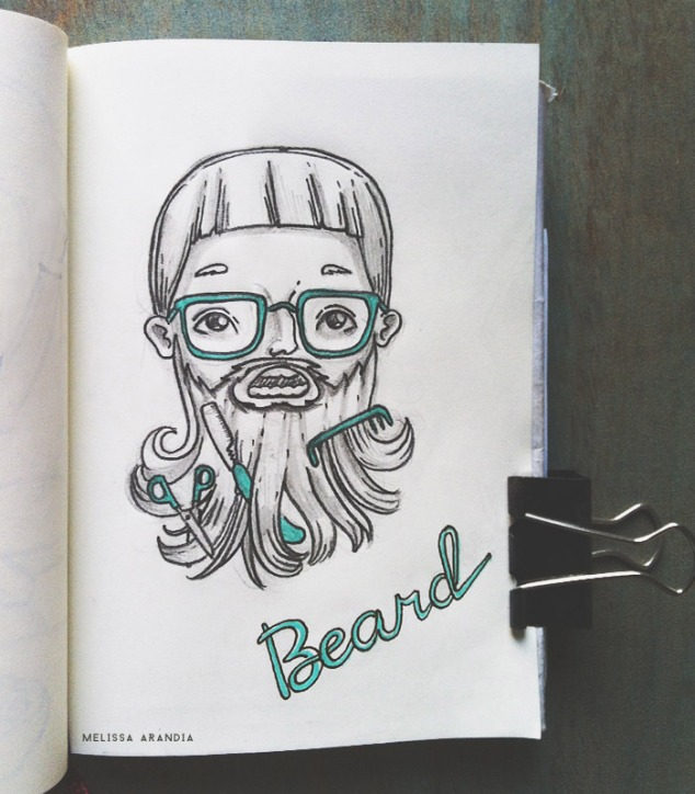 "original sketch—Illustration Friday ""Beard """