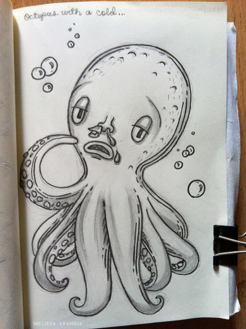 Octopus with a cold