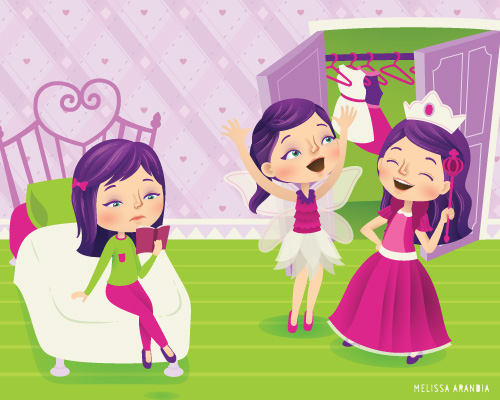 """vector work—Gal Pals, """"Clash of Friends"""""""
