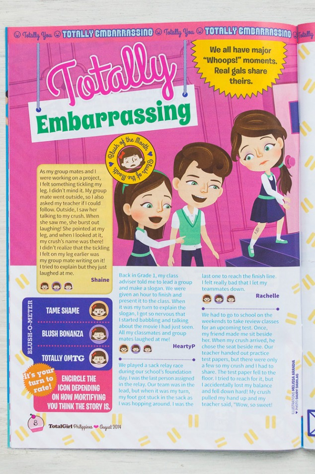 """Totally Embarrassing"", August 2014 issue"