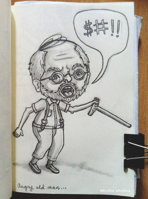 Random Sketch – Angry Old Man