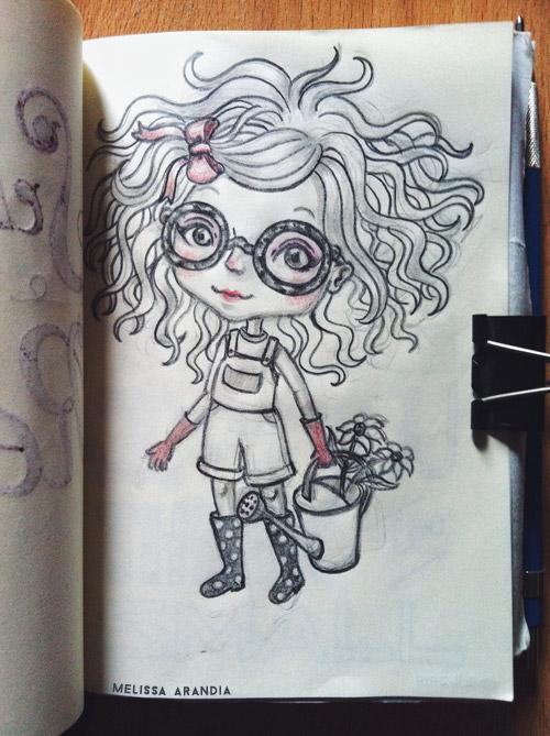 Random Sketch – Garden Girl