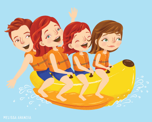 "vector work – ""Happy Campers"""